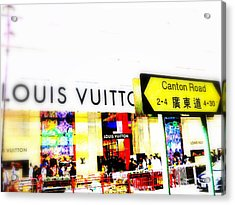 Luxury Shopping For Chinese In Hong Kong  Acrylic Print by Funkpix Photo Hunter