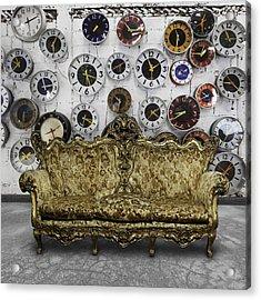 Luxury Sofa  In Retro Room Acrylic Print by Setsiri Silapasuwanchai