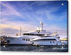 Luxury Yachts Acrylic Print by Elena Elisseeva
