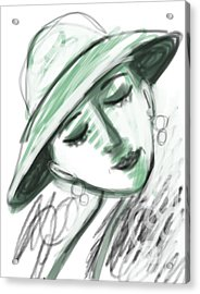 Lydia Acrylic Print by Elaine Lanoue