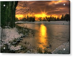 Lydiard Sunset Acrylic Print by Terry Walters