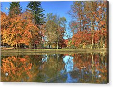 Acrylic Print featuring the photograph Lykens Glen Reflections by Lori Deiter