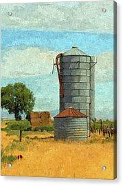 Acrylic Print featuring the digital art Lyndyll Farm by David King