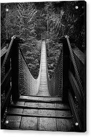 Lynn Canyon Bridge Acrylic Print by Tom Buchanan