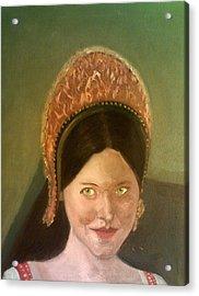Lynne Frederick As Queen Katherine Howard Acrylic Print