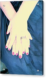 Blue Dress Acrylic Print