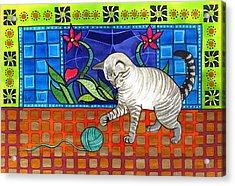 Lynx Point Kitten Smitten With Yarn Acrylic Print
