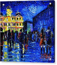 Lyon Festival Of Lights Acrylic Print by Mona Edulesco