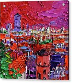 Lyon View In Pink Acrylic Print