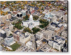 M-004 Madison Wisconsin Capitol Acrylic Print by Bill Lang