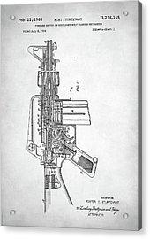 M-16 Rifle Patent Acrylic Print by Taylan Apukovska