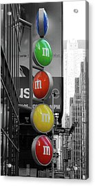 M And Ms In New York City Acrylic Print