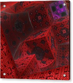Acrylic Print featuring the digital art M Cubed by Lyle Hatch