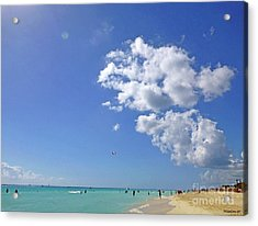 Acrylic Print featuring the digital art M Day At The Beach 2 by Francesca Mackenney