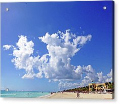 Acrylic Print featuring the digital art M Day At The Beach by Francesca Mackenney