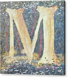 M Is For Monet Acrylic Print