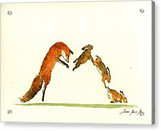 M Letter Woodland Animals Acrylic Print by Juan  Bosco