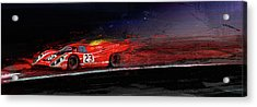 M Mcfly Racing Acrylic Print by Alan Greene