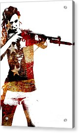 M1 Carbine And Bayonet Acrylic Print