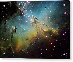 M16 The Eagle Nebula Acrylic Print by Ken Crawford