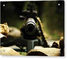 M1919 Browning Machine Gun Acrylic Print by Steven  Digman