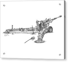 M198 Howitzer - Standard Size Prints Acrylic Print