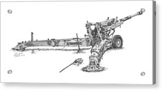 M198 Howitzer - Natural Sized Prints Acrylic Print