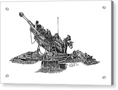 M777a1 Howitzer Acrylic Print