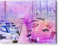 Marina In The Morning Glow Acrylic Print