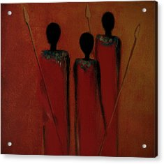 Maasai Trio  Acrylic Print