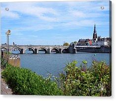 Maastricht, Bridge Over The River Meuse Netherlands Acrylic Print