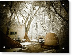 Acrylic Print featuring the photograph Mabel Luhan Dodge Home Exterior by Marilyn Hunt