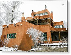 Acrylic Print featuring the photograph Mabel Luhan Dodge House 1 by Marilyn Hunt