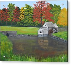 Mabry Grist Mill  Acrylic Print by Ruth  Housley