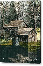 Mabry Mill Acrylic Print by Mike OBrien