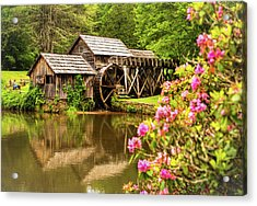 Acrylic Print featuring the photograph Mabry Mill by Rebecca Hiatt