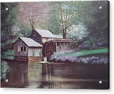 Mabry Mills Acrylic Print by Charles Roy Smith