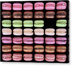 Acrylic Print featuring the photograph Macarons - One Missing by Nikolyn McDonald