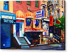 Macdougal Street Acrylic Print by John Tartaglione