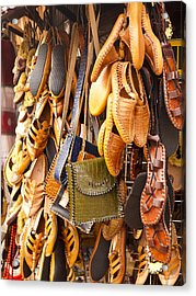 Macedonian Shoes Acrylic Print by Rae Tucker