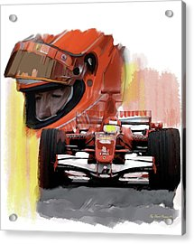 Macher  Michael Schumacher Acrylic Print by Iconic Images Art Gallery David Pucciarelli