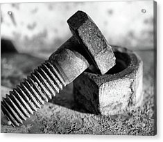 Acrylic Print featuring the photograph machine bolt No.2 by Tom Druin