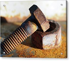Acrylic Print featuring the photograph Machine Bolt by Tom Druin