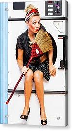 Machine Wash Housewife Acrylic Print by Jorgo Photography - Wall Art Gallery