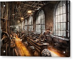 Machinist - A Room Full Of Lathes  Acrylic Print