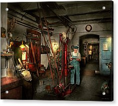 Acrylic Print featuring the photograph Machinist - Government Approved 1919 by Mike Savad
