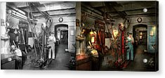Acrylic Print featuring the photograph Machinist - Government Approved 1919 - Side By Side by Mike Savad
