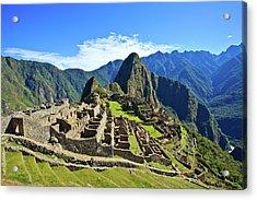 Machu Picchu Acrylic Print by Kelly Cheng Travel Photography