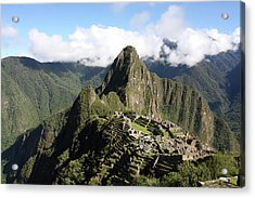 Acrylic Print featuring the photograph Machu Picchu Ruin, Peru by Aidan Moran