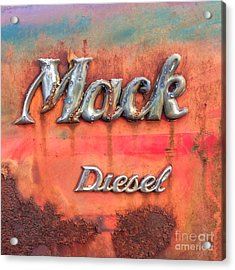 Acrylic Print featuring the photograph Mack Diesel by Terry Rowe